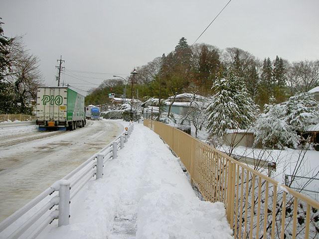機械による除雪除雪前