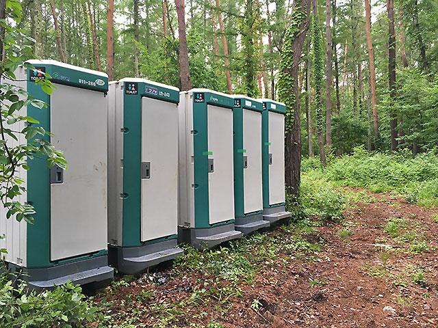 固定式簡易トイレ、移動式コンテナ承ります