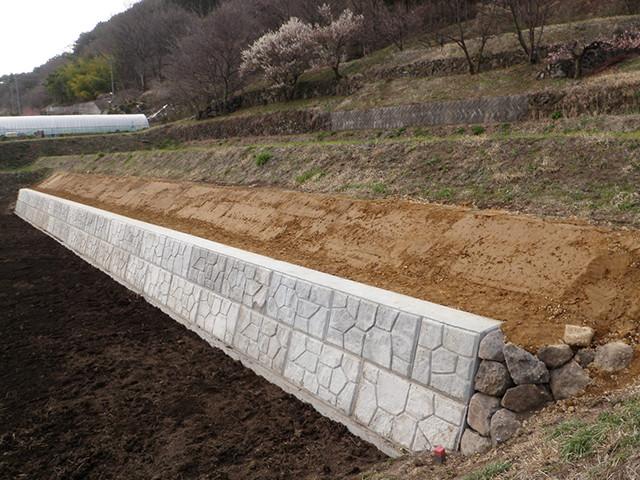 擁壁工事 今井建設株式会社長野県富士見町